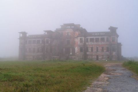 Cambodia, bokor-casino-less-mist