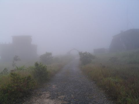 Cambodia, bokor-misty-buildings