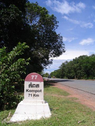 Cambodia,cambodia-kilometer-stone