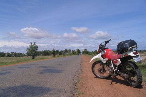 Cambodia, road-to-kampot