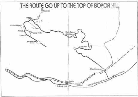 Cambodia, route-up-bokor-hill